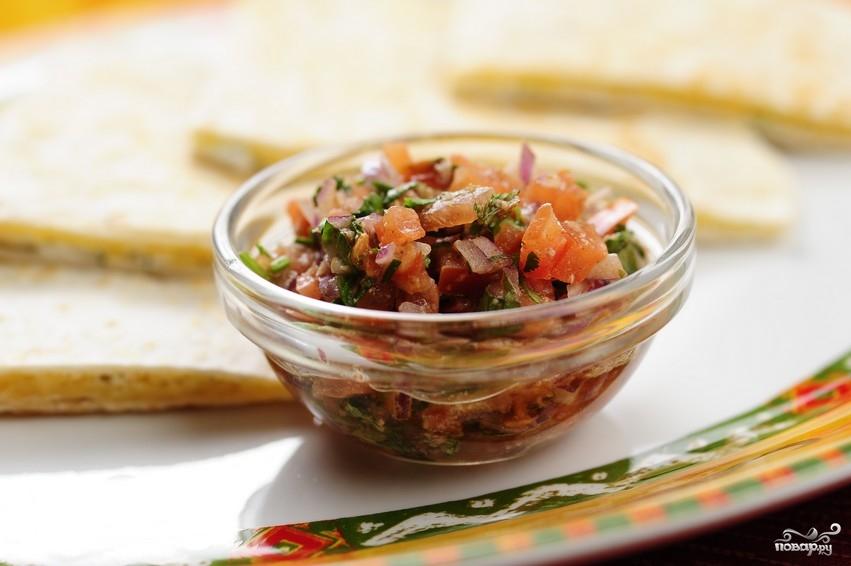 Салат из помидоров с луком - фото шаг 10