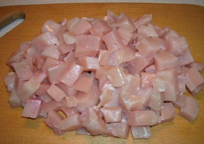 Рецепт Тушеные куриные грудки