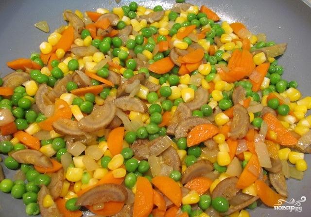 Рис жареный с овощами - фото шаг 4