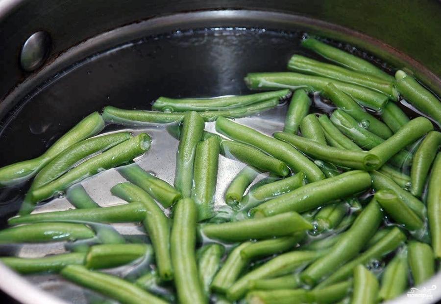 Тушеная зеленая фасоль - фото шаг 1