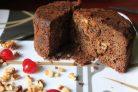 Шоколадно-ореховый пирог за 15 минут