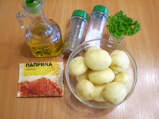 Рецепт Картошка в духовке с паприкой