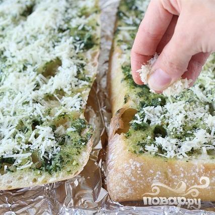 Бутерброды с базиликовым маслом - фото шаг 4