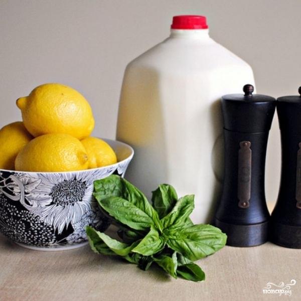 Рецепт Рикотта с лимоном и базиликом