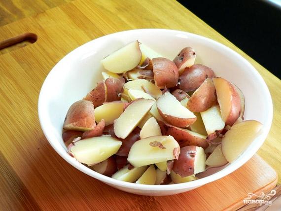 Рецепт Картошка с чесноком и укропом