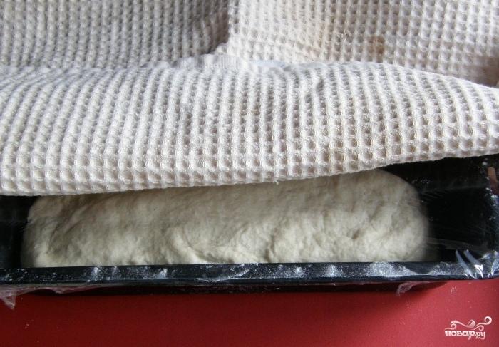 Белый хлеб на закваске в духовке - фото шаг 3