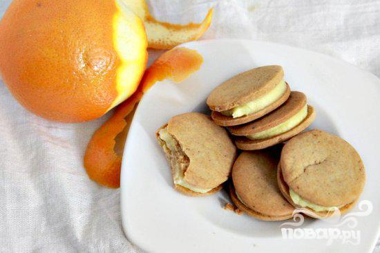 Пряное печенье с апельсиновым кремом - фото шаг 11