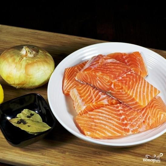 Рецепт Красная рыба, запеченная в фольге