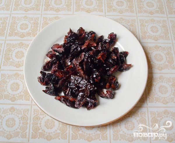 Тарталетки с мясом, фруктами и сыром - фото шаг 2