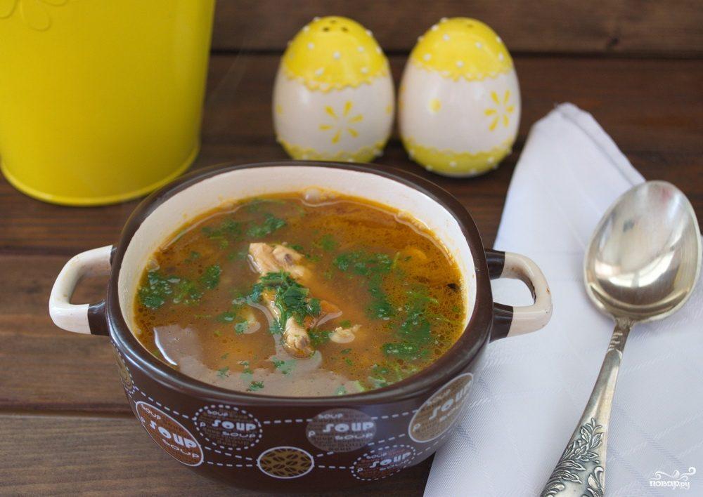 Диетический суп на курином бульоне