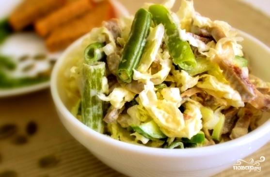 Салат с курицей и капустой - фото шаг 8