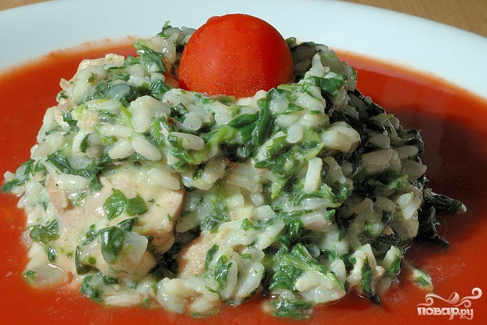 Рецепт Ризотто с курицей и шпинатом