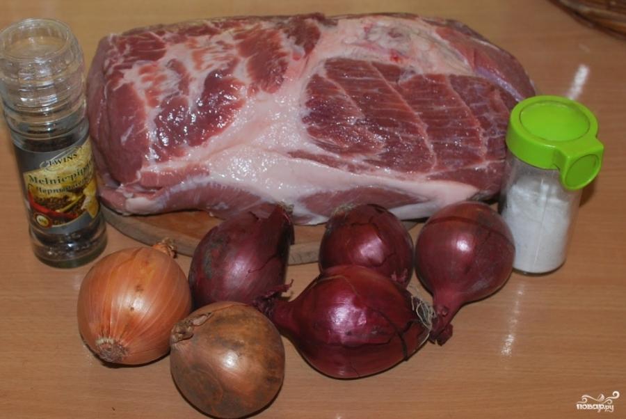 Шашлык из свинины без уксуса - фото шаг 1