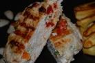 Котлеты из индейки с помидорами и сыром