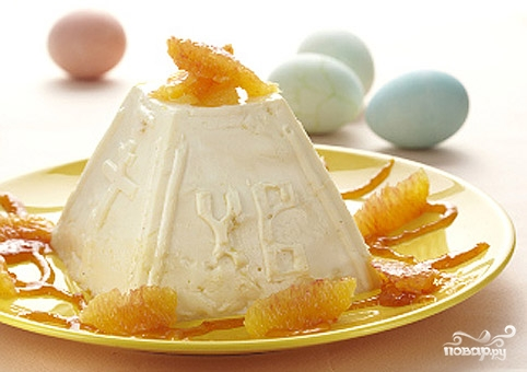 Рецепт Пасха из рикотты с апельсином