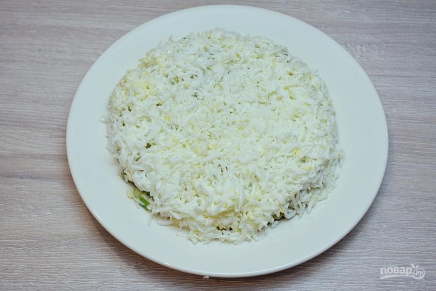 "Новогодний салат ""Куранты"" - фото шаг 7"