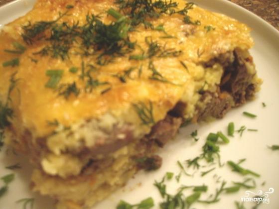 Запеканка из картофеля с печенью в духовке рецепт