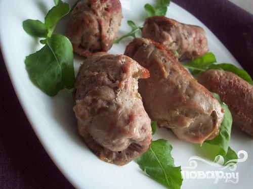 Свиные рулеты с сыром и грибами