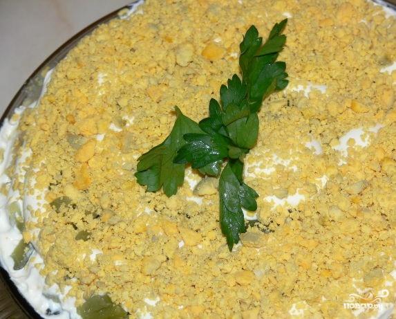 Салат с печенью и солеными огурцами - фото шаг 6