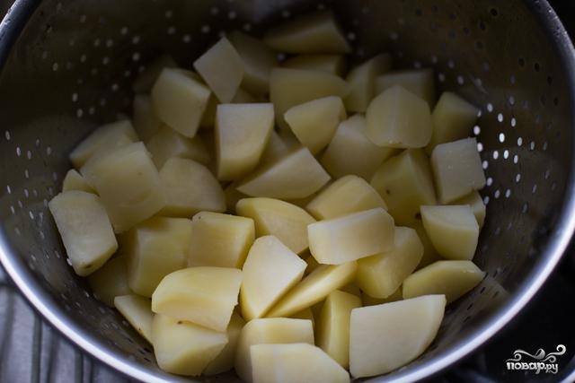 Запеченный картофель кусочками - фото шаг 3