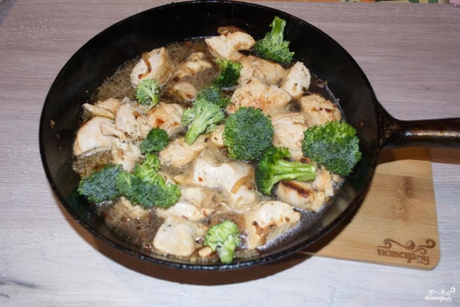 Индейка с брокколи в сливочном соусе - фото шаг 5