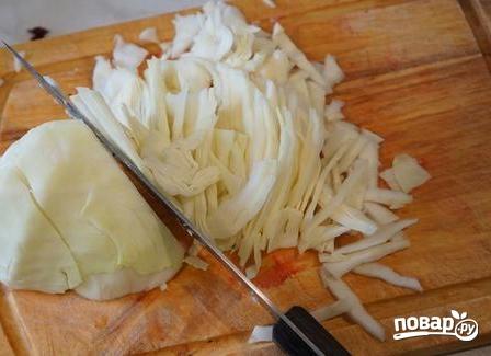 Бигус с мясом из свежей капусты - фото шаг 5