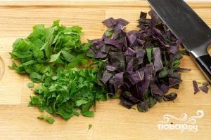 Салат с оливками - фото шаг 5