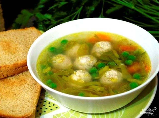 диета 5 рецепт супа с фрикадельками