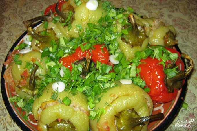 Фаршированный болгарский перец в духовке - фото шаг 9