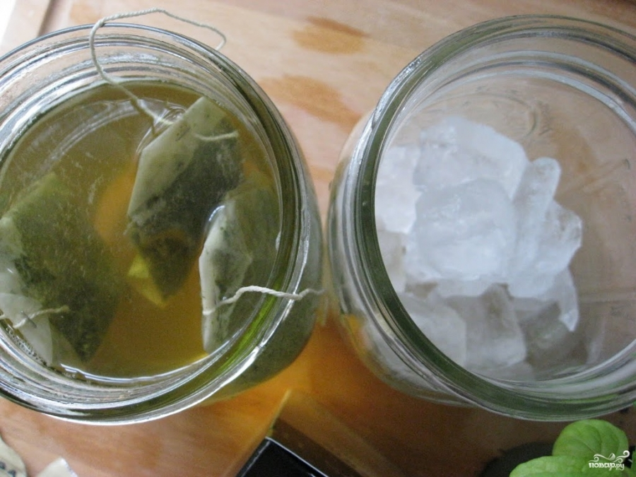 Зеленый чай с мятой - фото шаг 3