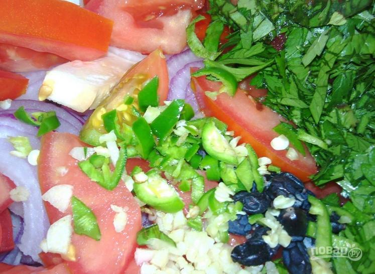 Салат с барбарисом - фото шаг 7