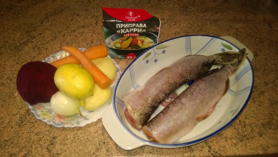 Рецепт Щука в соусе карри с овощами