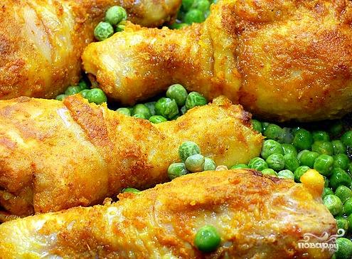 Курица с горохом - фото шаг 7