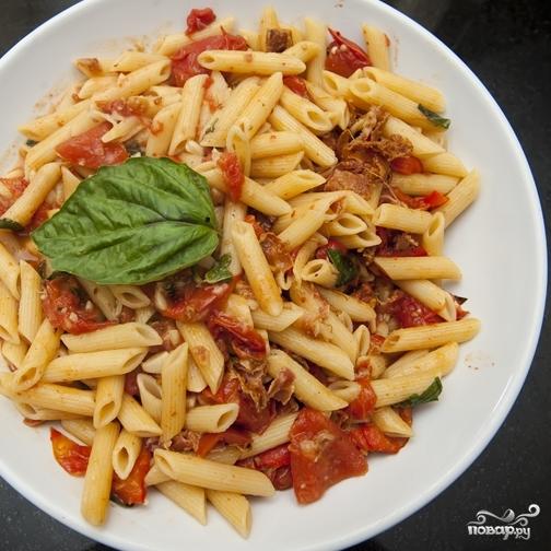 Паста с беконом и помидорами  - фото шаг 14