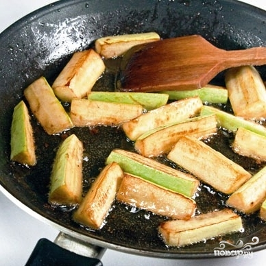 Теплый салат с манго и овощами - фото шаг 6