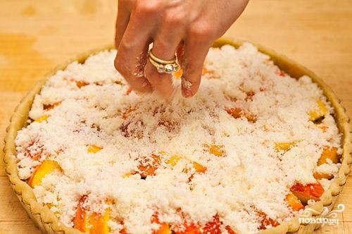 Песочный пирог с персиками - фото шаг 11