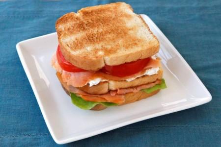 Сэндвич с семгой  - фото шаг 6