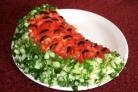 Салат Арбузная долька с корейской морковью