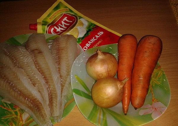 Рецепт Запеченная рыба под шубой