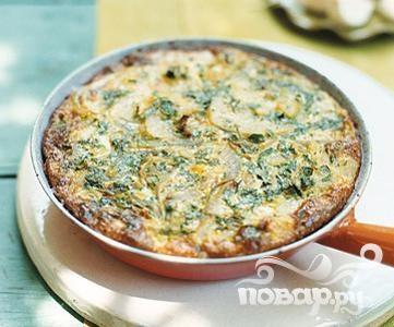 Рецепт Запеченная лепешка с картофелем и луком