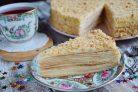 Торт Наполеон классический (из домашнего теста)