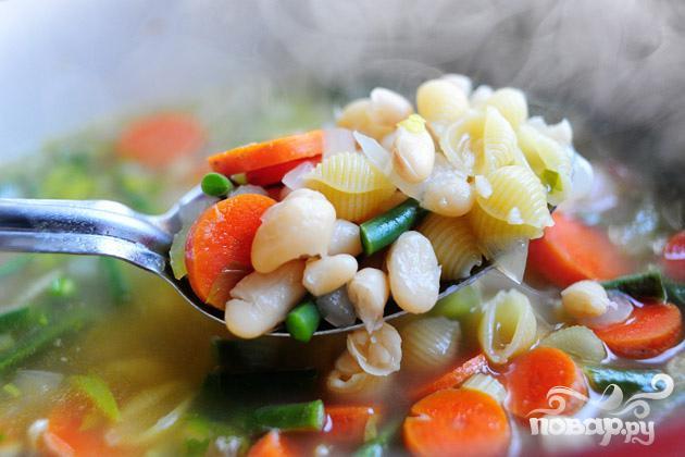 Суп минестроне с пастой - фото шаг 4