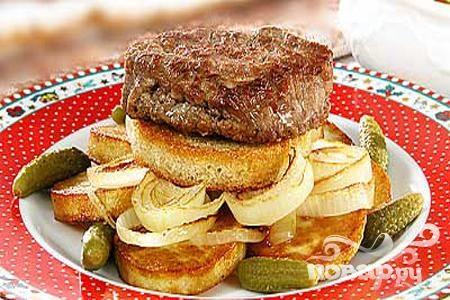 Рецепт Бифштекс с грибами
