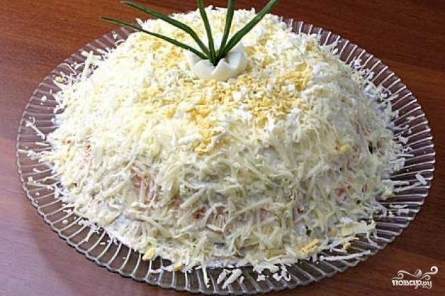 салат мужские грезы рецепт с фото с копченой курицей
