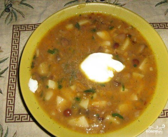 суп грибы мясо картошка рецепт с фото