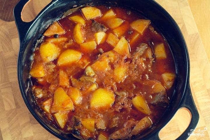 мясо тушеное с картошкой и кабачком рецепт с фото