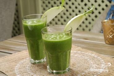 Зеленый смузи - фото шаг 9