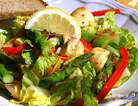 Салат из спаржи с грибами - фото шаг 8