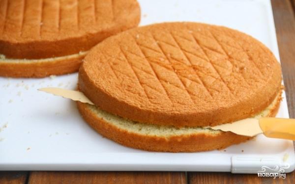 Торт с творогом и клубникой - фото шаг 5