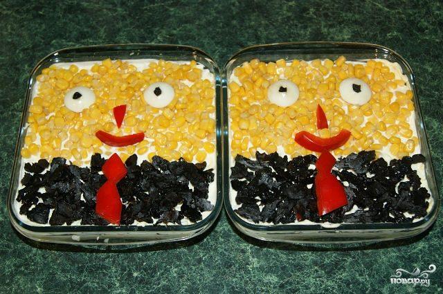 "Рецепт Салат ""Губка Боб"""